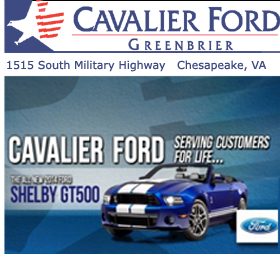 Cavalier Ford Lincoln Greenbrier    Phone: 757-424-1111 1515 S. Military Hwy Chesapeake VA